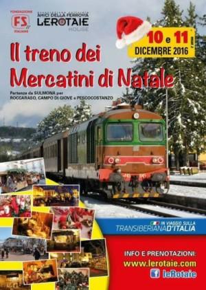 Il Treno dei Mercatini di Natale 2016 da Sulmona a Pescocostanzo