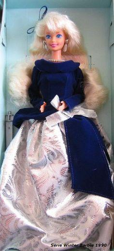 1990 BARBIE WINTER VELVET, Mattel, AVON EXCLUSIVE, Special Edition, First in the Series 1990