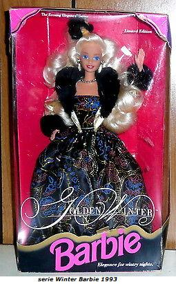 1993 Golden Winter Barbie Limited Edition The Evening Elegance Series Nib