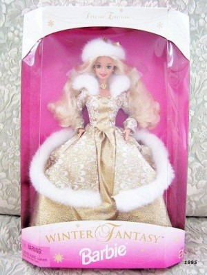 1995 Winter Fantasy Barbie Blonde - Sam's Club Exclusive