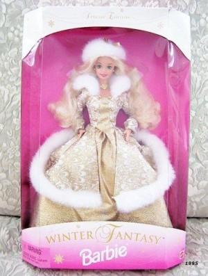 1995 Winter Fantasy Barbie Blonde - Sam's Club Exclusive