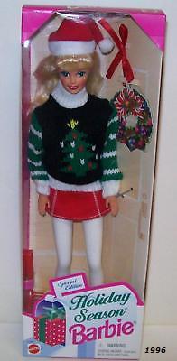 1996 Barbie Holiday Season Christmas Doll Mattel 1996 NEW