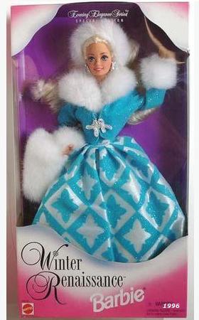1996 Barbie Winter Renaissance Evening Elegance Series Special Edition