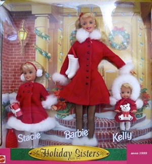 1999 Holiday Sisters 1999 Barbie, Kelly & Stacie Gift Set