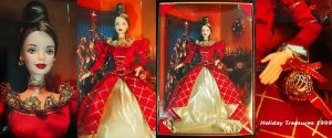 1999 Holiday Treasures Barbie Doll 1st in Series by Mattlel, Barbie