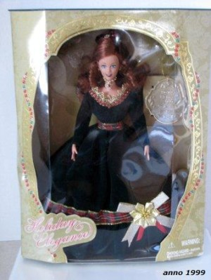 1999 New Rare Holiday Elegance 1999 Toys R Us Exclusive Red Hair Barbie Doll By Jakks Pacific