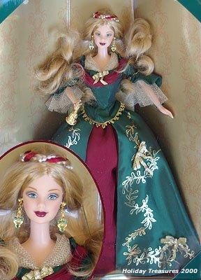 2000 HOLIDAY TREASURES COLLECTOR CLUB BARBIE