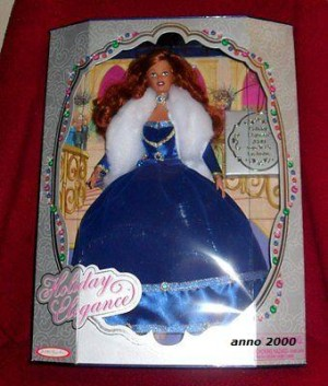 2000 Holiday Elegance 2000 Toys R Us Exclusive, Red haired beauty in Blue dress Doll!