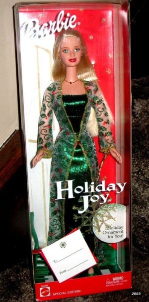 2003 barbie holiday joy