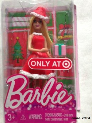 2014 Barbie  Target Exclusive Christmas Happy Holiday Mini Doll