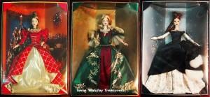 holiday treasure barbie 1999- 2000-2001